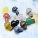 Crystal agate semiprecious stones 2CM mini mushroom decoration landscaping DIY accessories wholesale NHKES356047