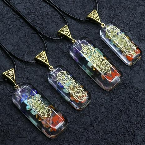 Orgonit Chakela Orgonit Energie Stein sieben Chakel Kristall Anhänger Meditation sieben Chakel Halskette NHKES356055's discount tags