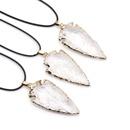 Crystal gilt gilt hand knocked white crystal arrow pendant jewelry arrow necklace wholesale NHKES356064