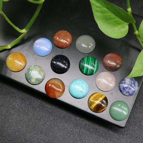 20mm Halbkreis Ring Gesicht Achat Kristall bunte Edelstein Achat Stein Halbkreis Perle Ring DIY Schmuck Zubehör NHKES356068's discount tags
