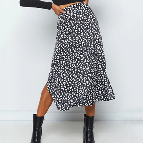jupe à imprimé léopard à pois NHZN356084's discount tags