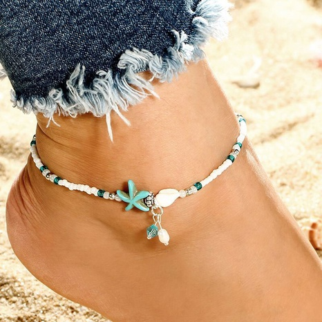 fashion style new seashell pearl anklet NHSC356991's discount tags