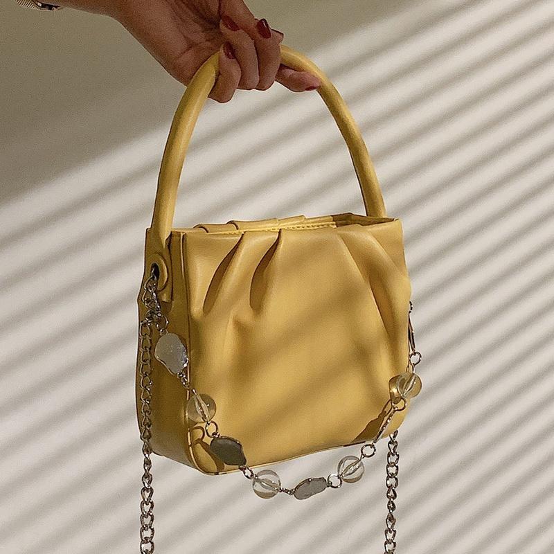 French new trendy fashion shoulder armpit fold cloud bag NHLH356331