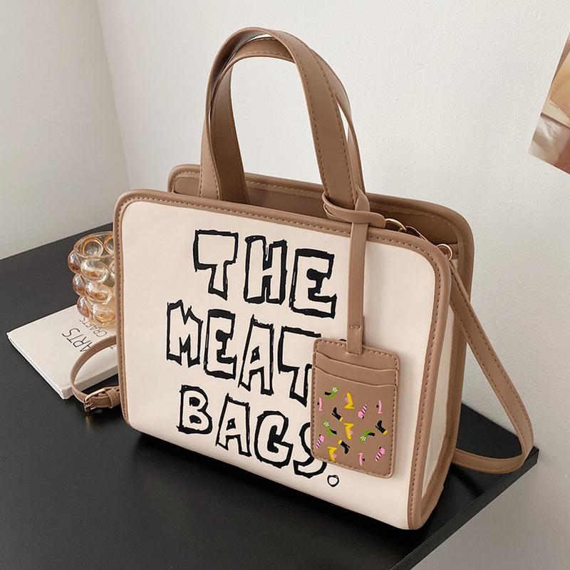 fashion letter printing largecapacity handbag wholesale  NHLH356385