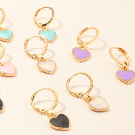 Nouvelles boucles d'oreilles en forme de coeur de style simple NHNU356739's discount tags