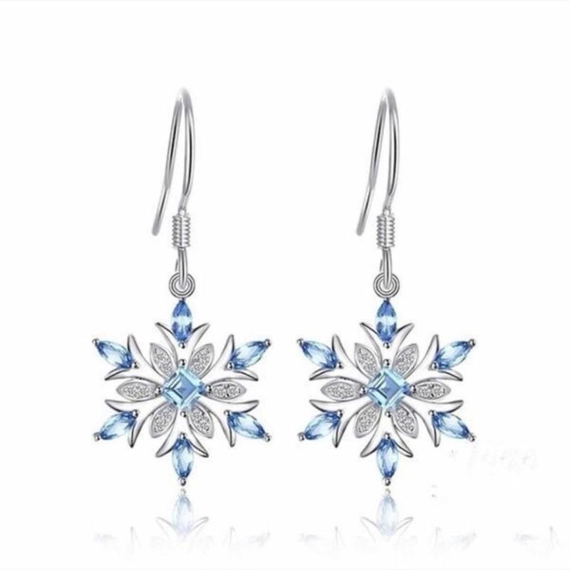 fashion new style snowflake long earrings NHKL356487