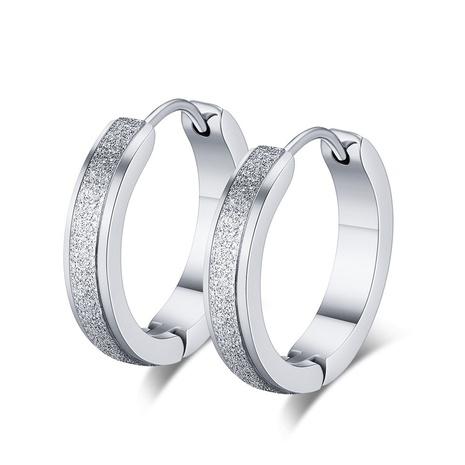 style de mode nouvelles boucles d'oreilles simples en acier inoxydable NHKL356496's discount tags