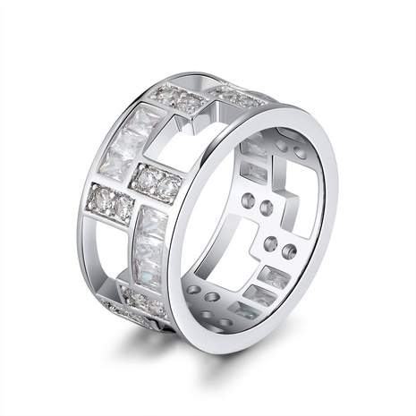 fashion style new copper hollowed zircon ring NHKL356497's discount tags
