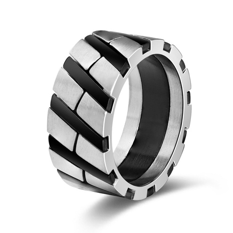 new fashion style stainless steel two color ring  NHKL356502's discount tags