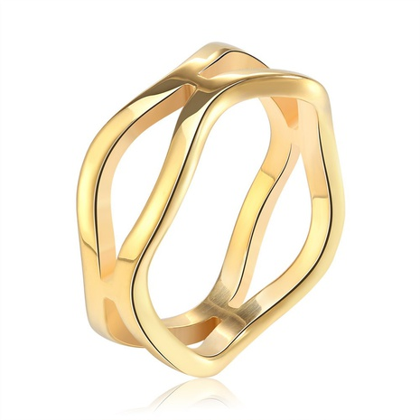 creative fashion style new stainless steel hollow ring NHKL356504's discount tags