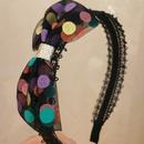Korean color polka dot rabbit ears childrens headband wholesale  NHWB356584