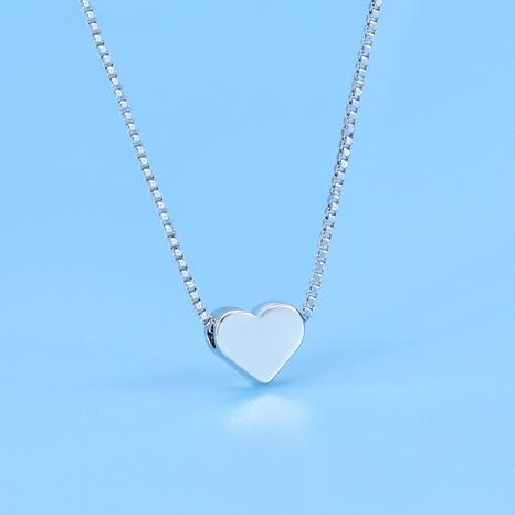 Collier pendentif coeur coréen en argent sterling S925 NHLON356677's discount tags