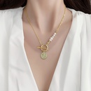baroque stitching freshwater pearl necklace   NHMS356747