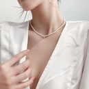 retro millet freshwater pearl chain necklace NHMS356749