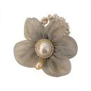 Korean style flower pearl hair rope  NHCQ356793