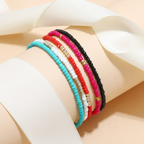 Bohemian personality creative fashion retro ethnic style anklet Miyuki beads 5-piece anklet NHKQ356803's discount tags