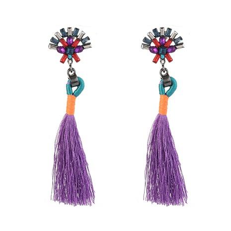 Wholesale bohemian ethnic style long tassel earrings  NHYAO356811's discount tags