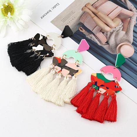 fashion geometric tassel earrings wholesale NHYAO356815's discount tags