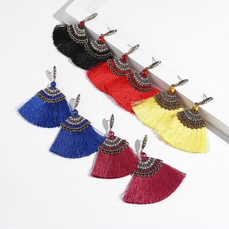 fashion alloy diamond tassel earrings  NHYAO356817's discount tags