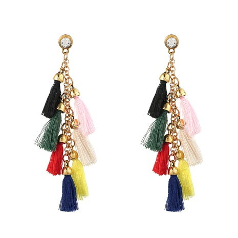 Bohemian personality ethnic small tassel earrings  NHYAO356830's discount tags