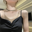 simple leather rope chain tassel pullable necklace NHYQ356851