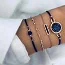 Fashion heart pineapple beaded geometric turquoise multiset bracelet  NHMO356863