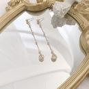 Fashion Pearl Diamond Hollow Ball Tassel Long Earrings  NHWB356885