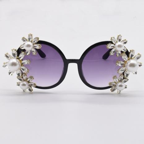 Personnalité Street Style Diamants Perles Fleurs Lunettes de Soleil NHNT356936's discount tags