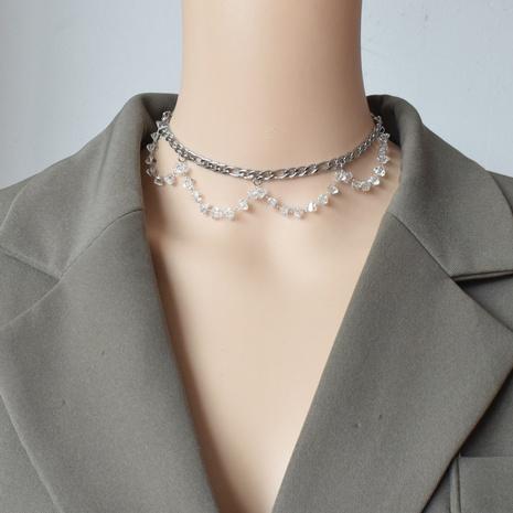 collier à pendentif multicouche à pompons en cristal rétro NHNT356969's discount tags
