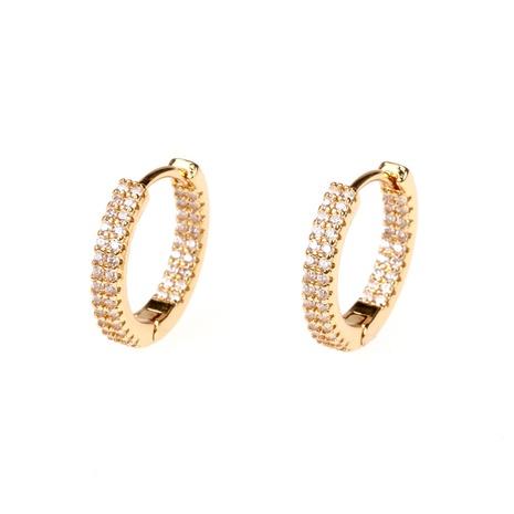 fashion diamond circle copper earrings wholesale NHPY357133's discount tags