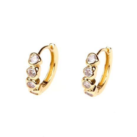 fashion simple diamond heart shape ear buckle  NHPY357134's discount tags