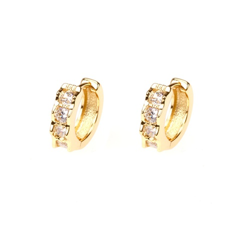 fashion geometric zircon copper gold-plated earrings  NHPY357137's discount tags