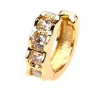 fashion geometric zircon copper goldplated earrings  NHPY357137