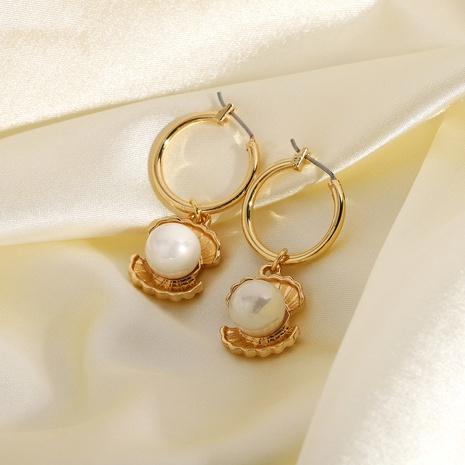 boucles d'oreilles à pendentif en forme de coquillage de style rétro NHJIE357165's discount tags