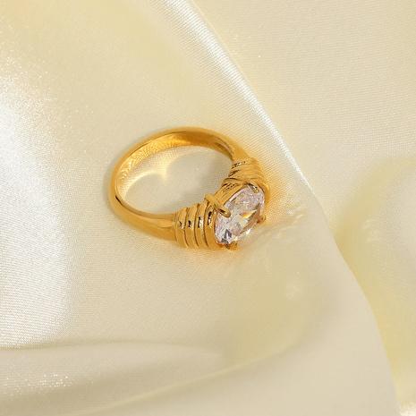 anneau de zircon blanc en acier inoxydable de mode en gros NHJIE357196's discount tags