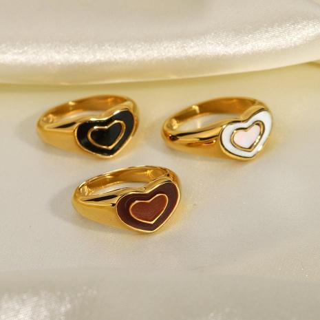 anneau de coeur en acier inoxydable de mode NHJIE357200's discount tags