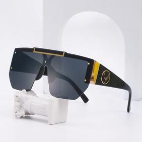 fashion large frame one-piece sunglasses wholesale  NHLMO357610