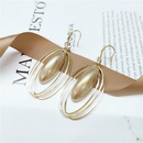 fashion multilayer circle geometric large pearl earrings  NHVA357728