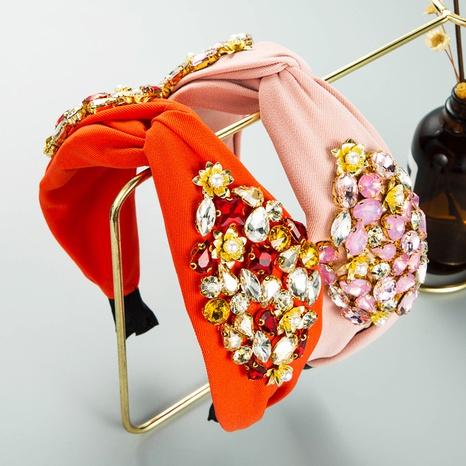 Barock Mode einfarbig Stoff Perlen Perlen Stirnband NHLN357802's discount tags