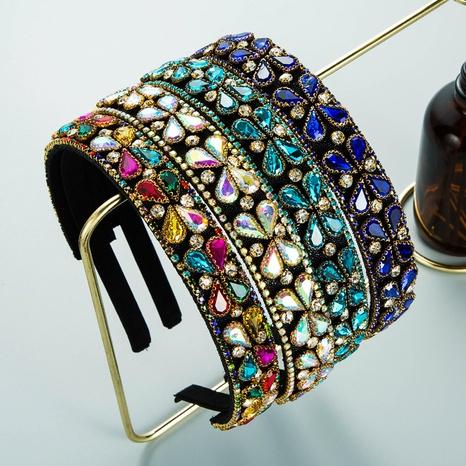 geometrisches Glasstirnband des Barock-Retro-Palastmode NHLN357805's discount tags