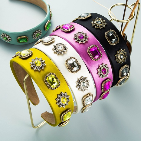 Mode Persönlichkeit Diamant besetztes Stoff Stirnband NHLN357806's discount tags