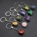 Irregularly Polished Natural Stone Pendant Keychain NHKES357870
