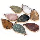fashion pink crystal agate jade rough pendant  NHKES357887
