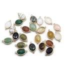 crystal agate gemstone edging pendant wholesale  NHKES357892