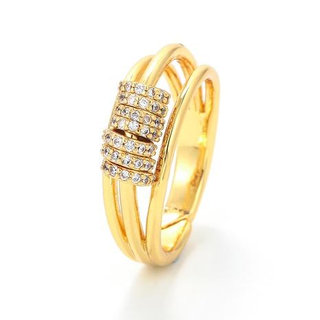 fashion micro-inlaid zircon three-layer small circle ring  NHWG357249's discount tags