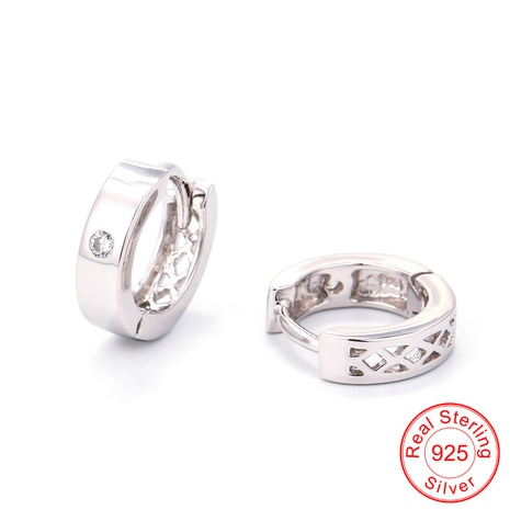 Korea fashion simple single diamond zircon S925 silver earrings   NHWG357260's discount tags