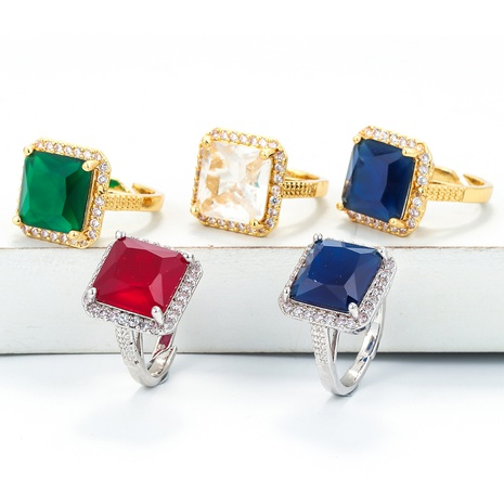 fashion gold-plated diamond gemstone ring wholesale  NHWG357301's discount tags