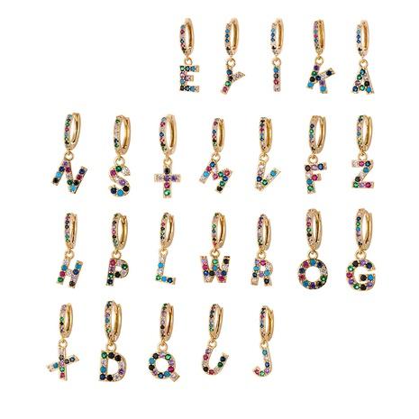 fashion 26 English alphabet earrings NHWG357315's discount tags