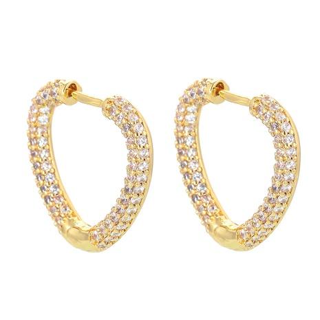 fashion heart zircon earrings wholesale NHWG357320's discount tags