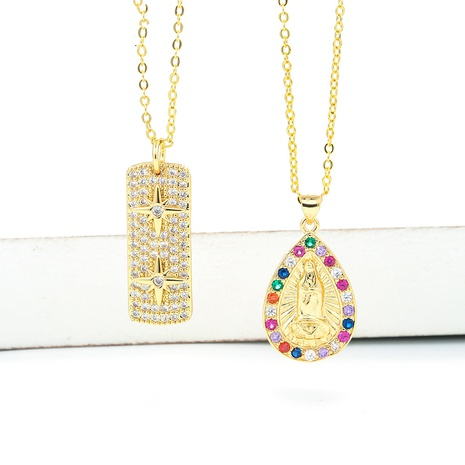 hip-hop full diamond meteor pendent clavicle chain  NHWG357331's discount tags